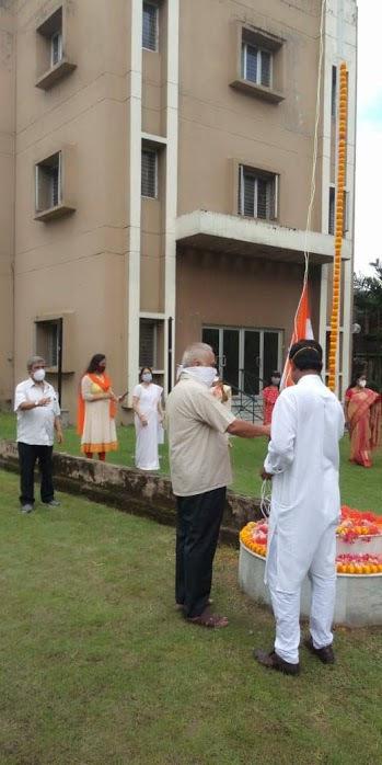 Independence Day Flag Hoisitng Preparation